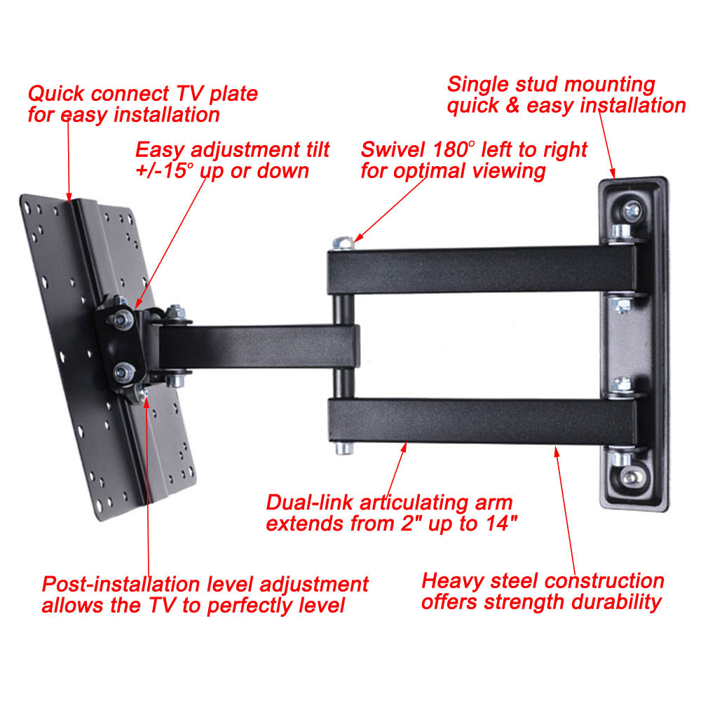 articulating tv wall mount for vizio samsung lg panasonic 32 37 39 40 42 led mb4 ebay LCD- Display LCD- Display