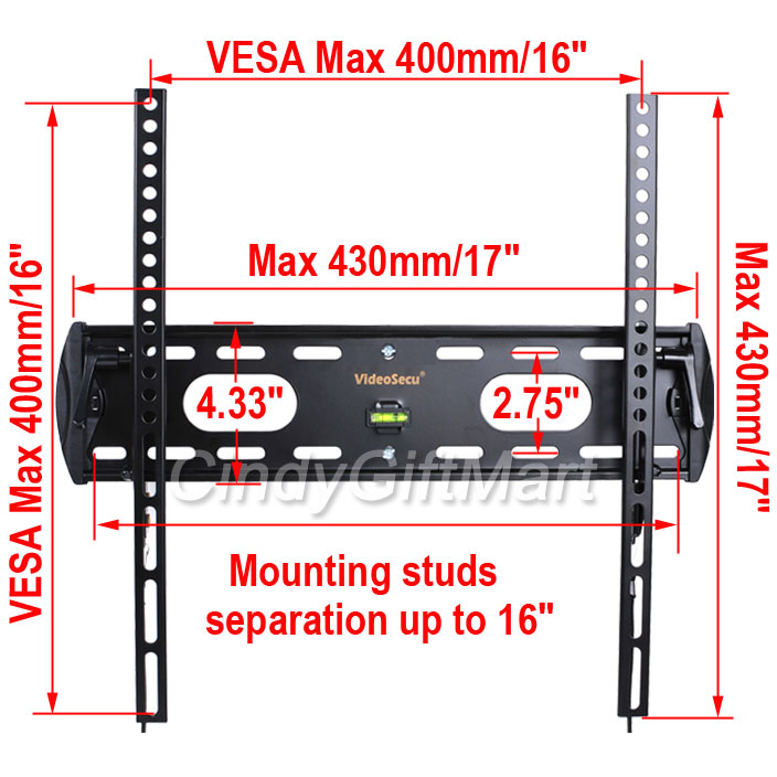 "New LCD LED Plasma Flat Tilt TV Wall Mount 23 24 26 27 30 32 37 40 42"" Vesa 3FE"