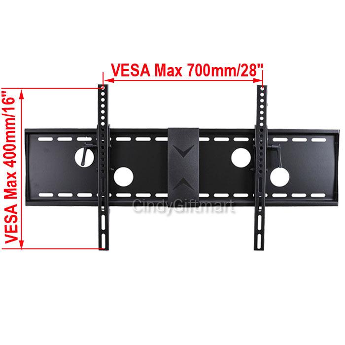 tilt tv wall mount for samsung 39 40 42 46 50 55 60 64 65 75 led lcd plasma 3kr ebay. Black Bedroom Furniture Sets. Home Design Ideas