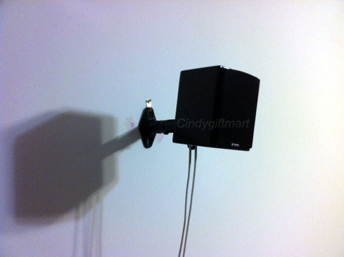 4x Universal Wall Ceiling Speaker Mount Bracket Satellite