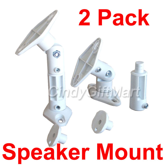 2x Audio Wall Ceiling Speaker Mount Home Theater Satellite