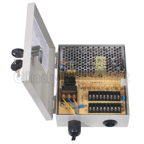 9 ports CCTV camera power supply box