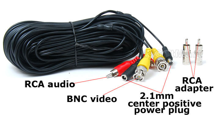 50ft audio video power cable
