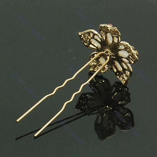 Hot Fashion Cute Crystal Flower Wedding Bridal Hair Pin