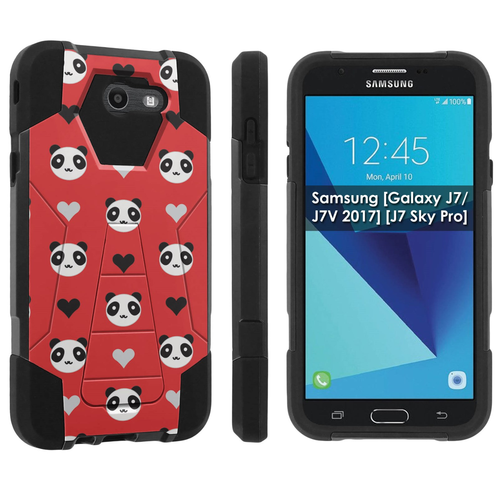 Rugged Case Red Rustic Wings For Galaxy J7