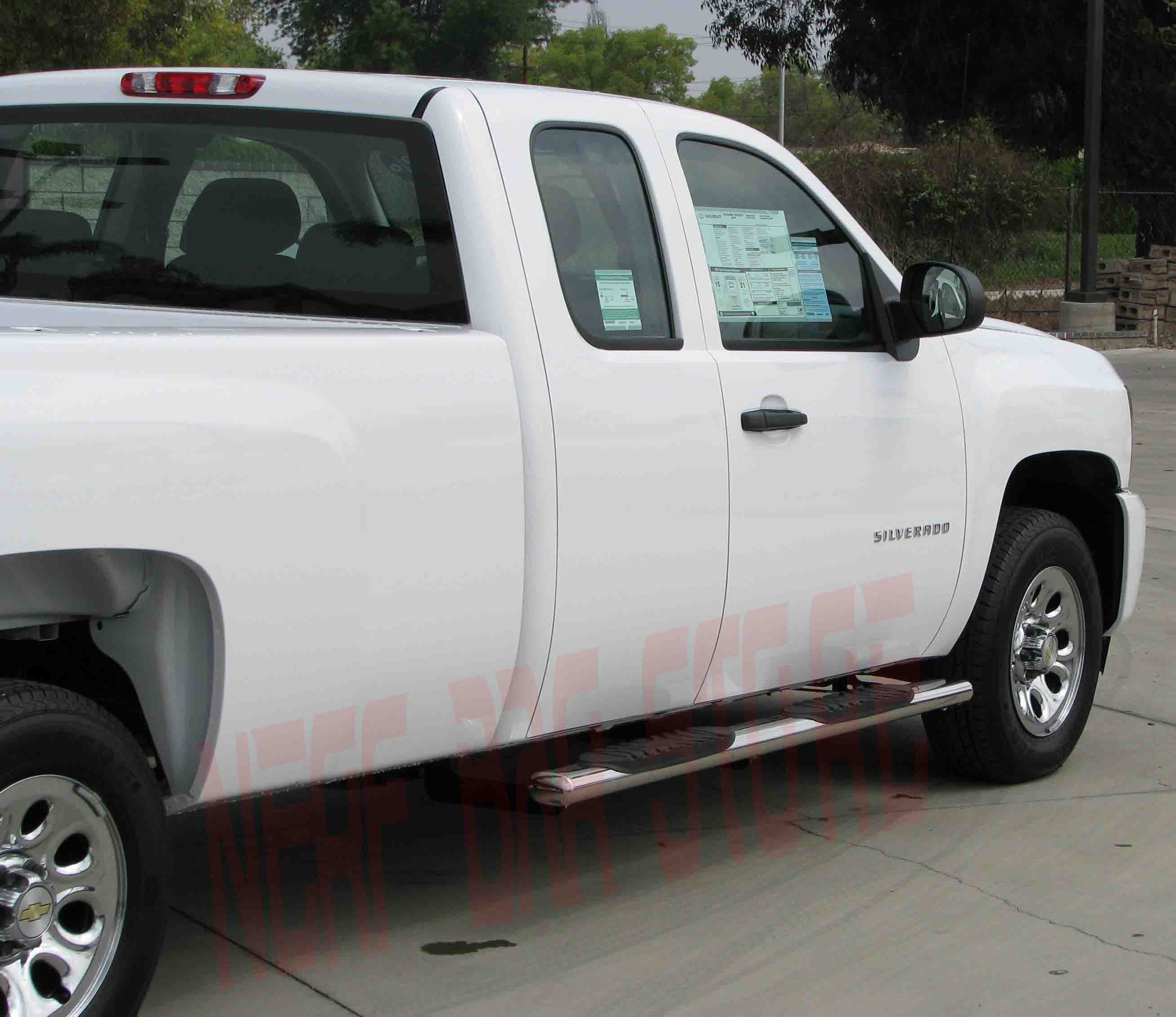 2012 Silverado 1500 4 Inch OVAL Extended Cab Nerf Bars