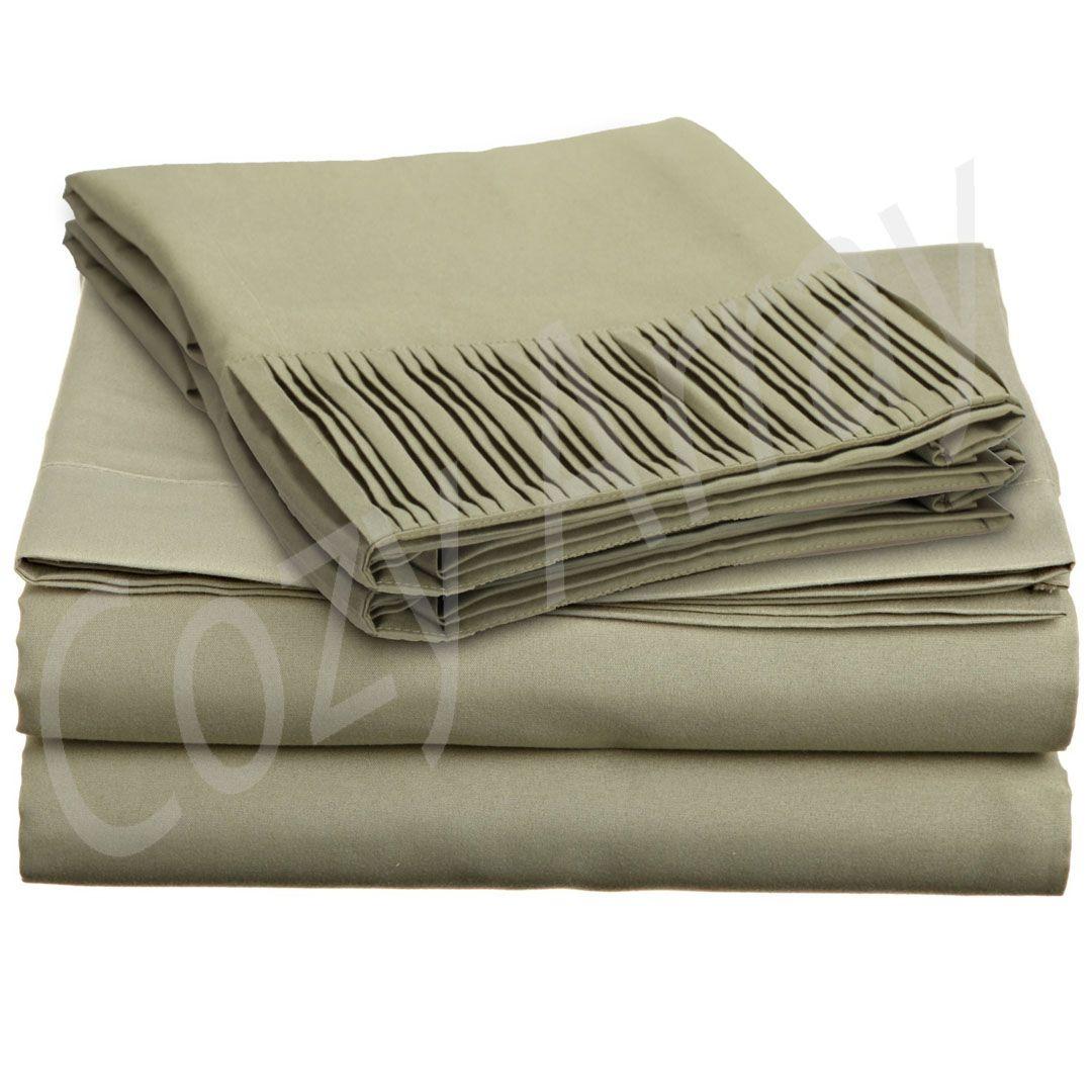 Luxury Soft Queen Bed Sheet Set 1600 TC Series Deep Pocket New
