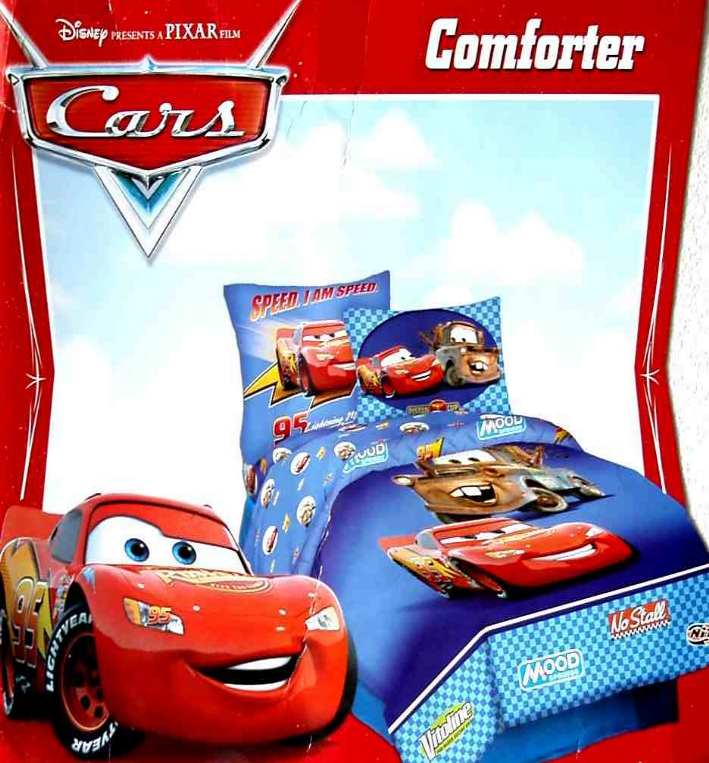 pixar cars cars world blue twin comforter sheets sham 5pc bedding set