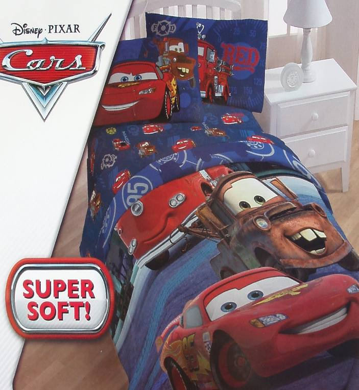 pixar cars mater red lightning twin comforter sheets 4pc bedding set