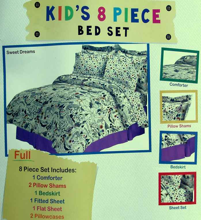 Fairy Tales Sweet Dreams Full Comforter Sheets 8PC Bedding Set New