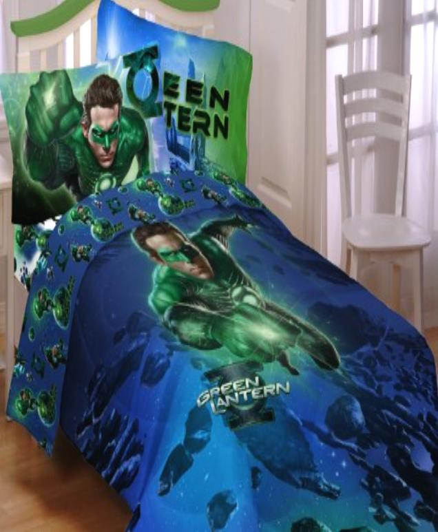 details about green lantern twin comforter sheets 4pc bedding new