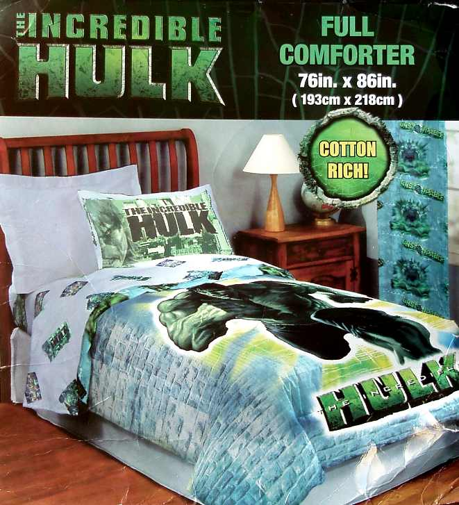 Details about THE INCREDIBLE HULK MOVIE FULL COMFORTER BEDDING NEW