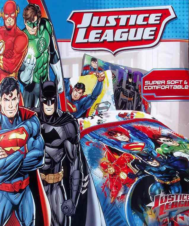 DC ICS JUSTICE LEAGUE HEROES BLUE TWIN FORTER SHEETS