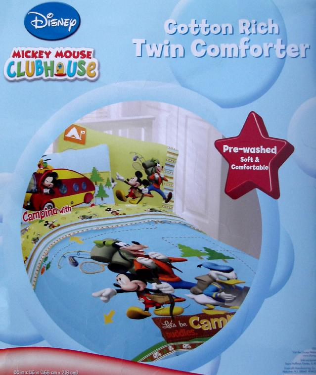 MICKEY MOUSE CLUBHOUSE TWIN COMFORTER SHEETS BEDDING SET NEW EBay