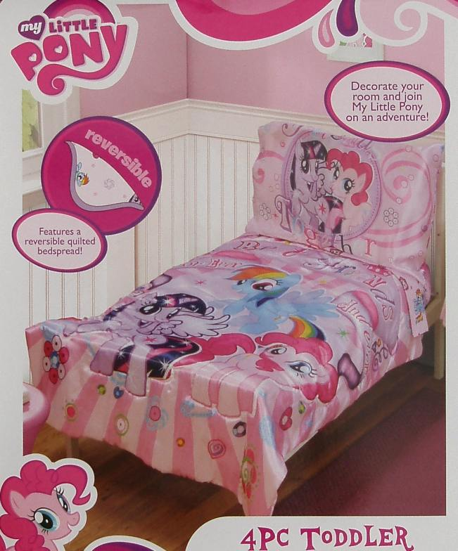 my little pony and friends pink comforter sheets 4pc. Black Bedroom Furniture Sets. Home Design Ideas