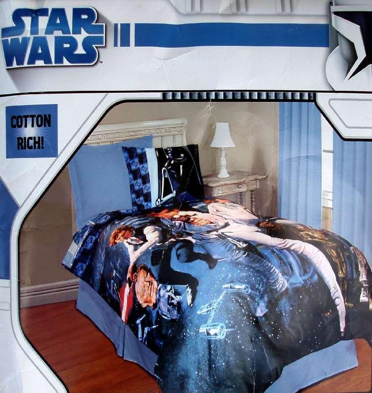 Star Wars Saga Cotton Rich Twin Comforter Pillowcase 2pc