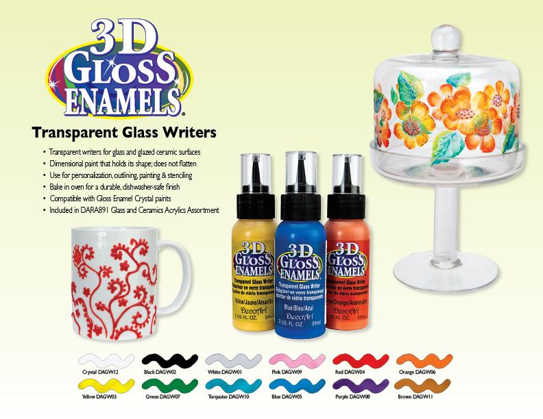 Gloss Enamel Paint For Glass Decoart 3d Gloss Enamel Transparent Glass Paint Writers 2 oz Pick Your
