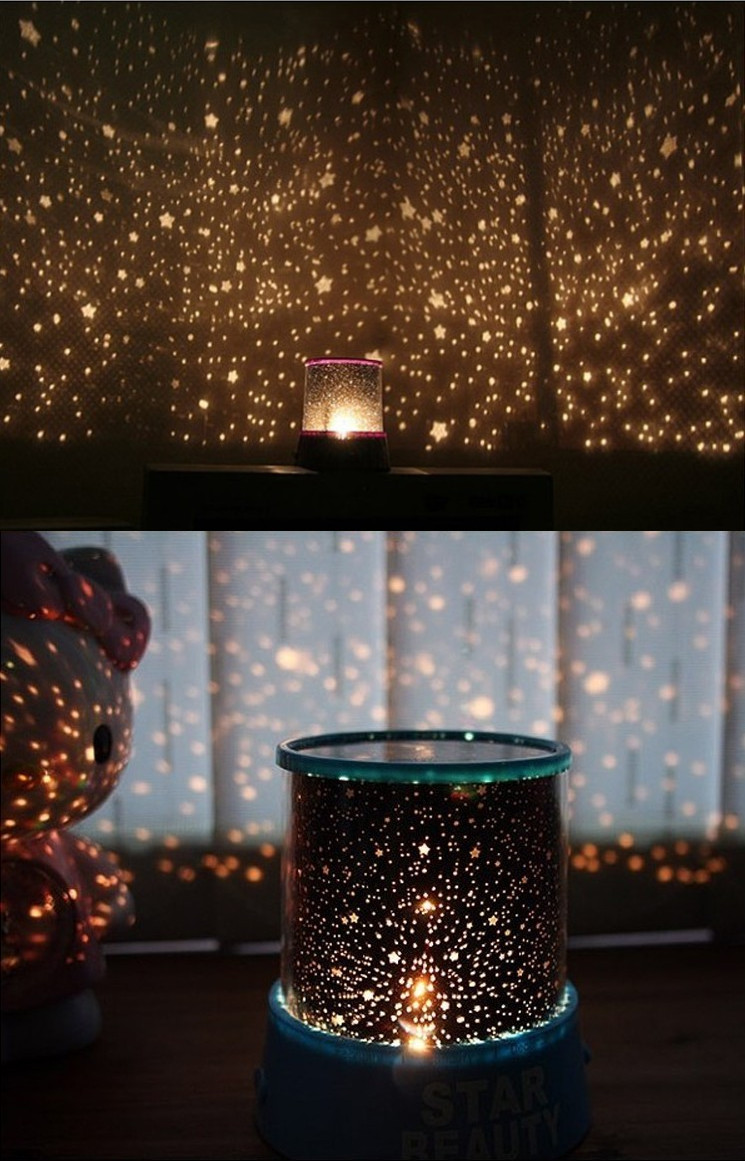 Romantic star master sky night cosmos projector light
