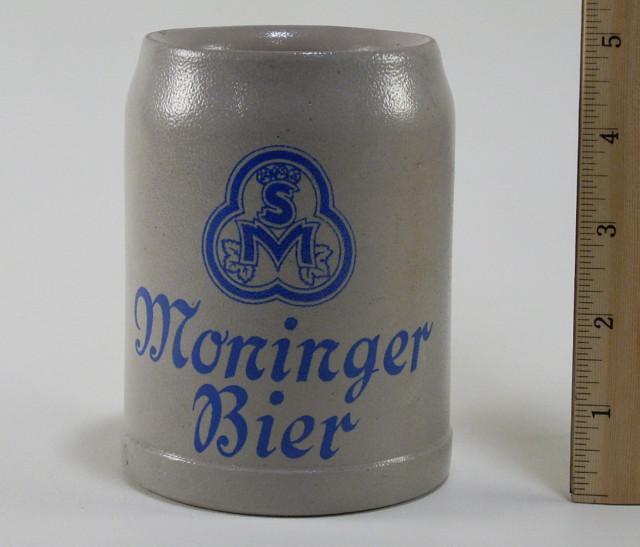 moninger bier ceramic beer mug stein krug 0 5 liter. Black Bedroom Furniture Sets. Home Design Ideas