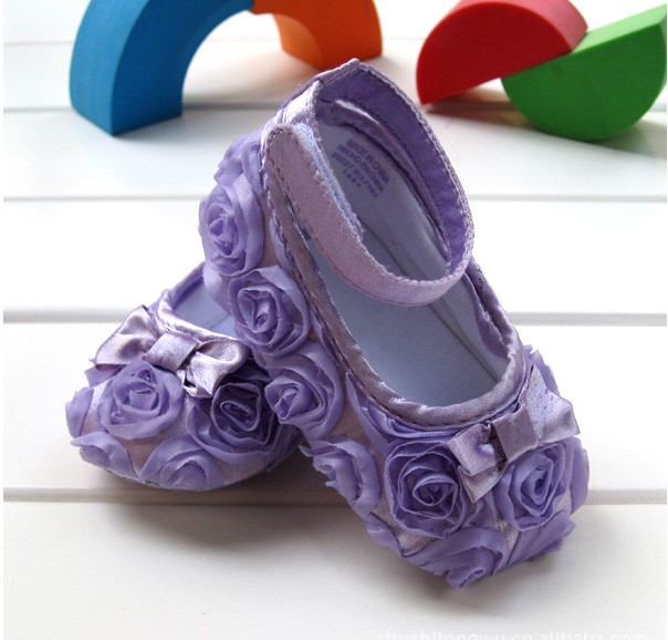 Purple Mary Jane Infant Baby Shoes Girl Toddler Dress Soft