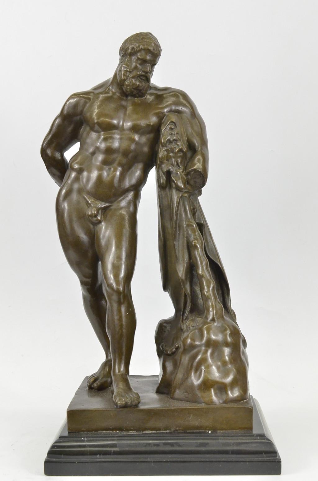 signed glycon hercules r greek myth herculesart deco bronze sculpture statue cad. Black Bedroom Furniture Sets. Home Design Ideas