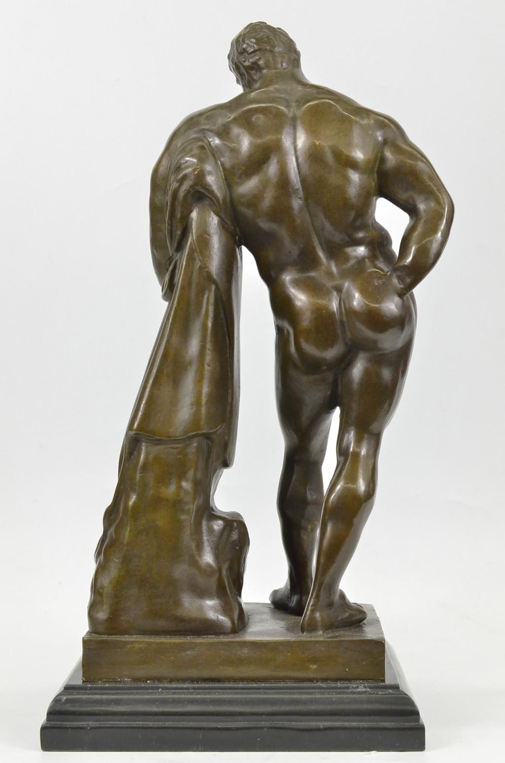 signed glycon hercules r greek myth herculesart deco bronze sculpture statue ebay. Black Bedroom Furniture Sets. Home Design Ideas