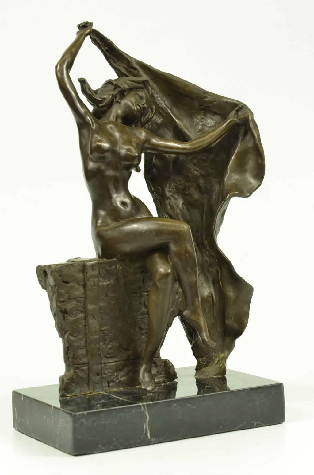 bronze sculpture sy lady art nouveau deco lost wax de statue figurine. Black Bedroom Furniture Sets. Home Design Ideas