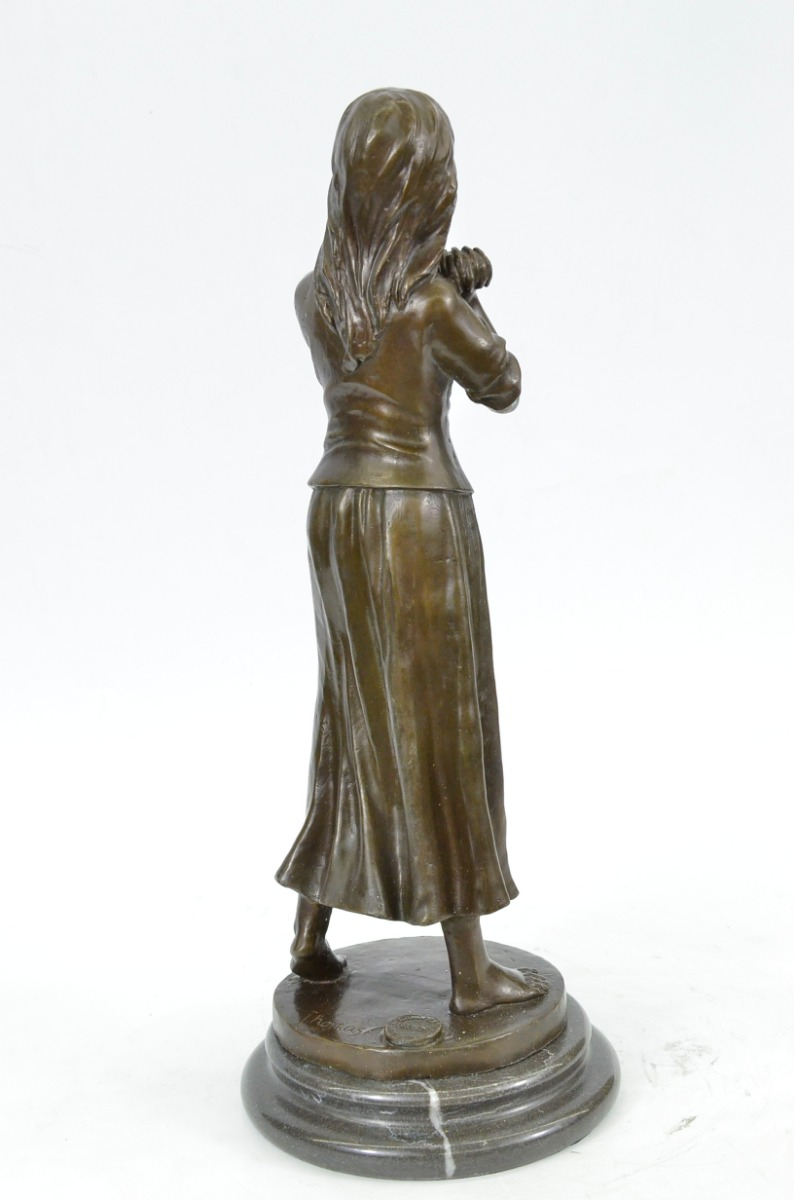 Original Maiden Hot Cast Art Deco Bronze Sculpture Statue ...