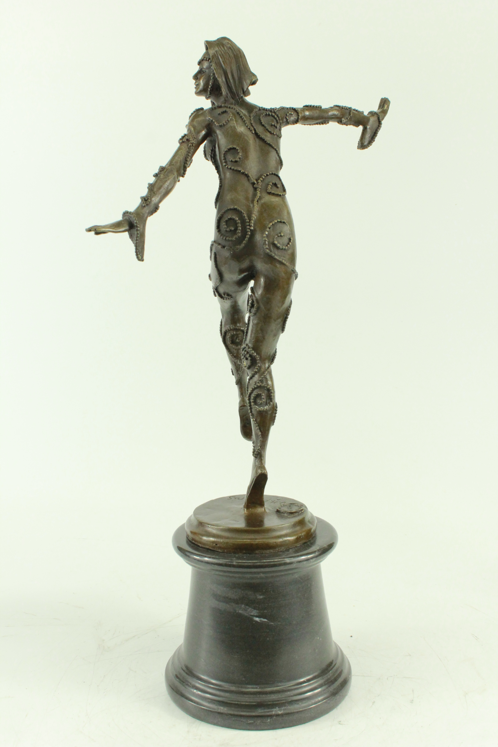Bronze-Sculpture-Signed-Chiparus-Russian-Dancer-Art-Deco-20-034-Tall-Figurine-Sculp