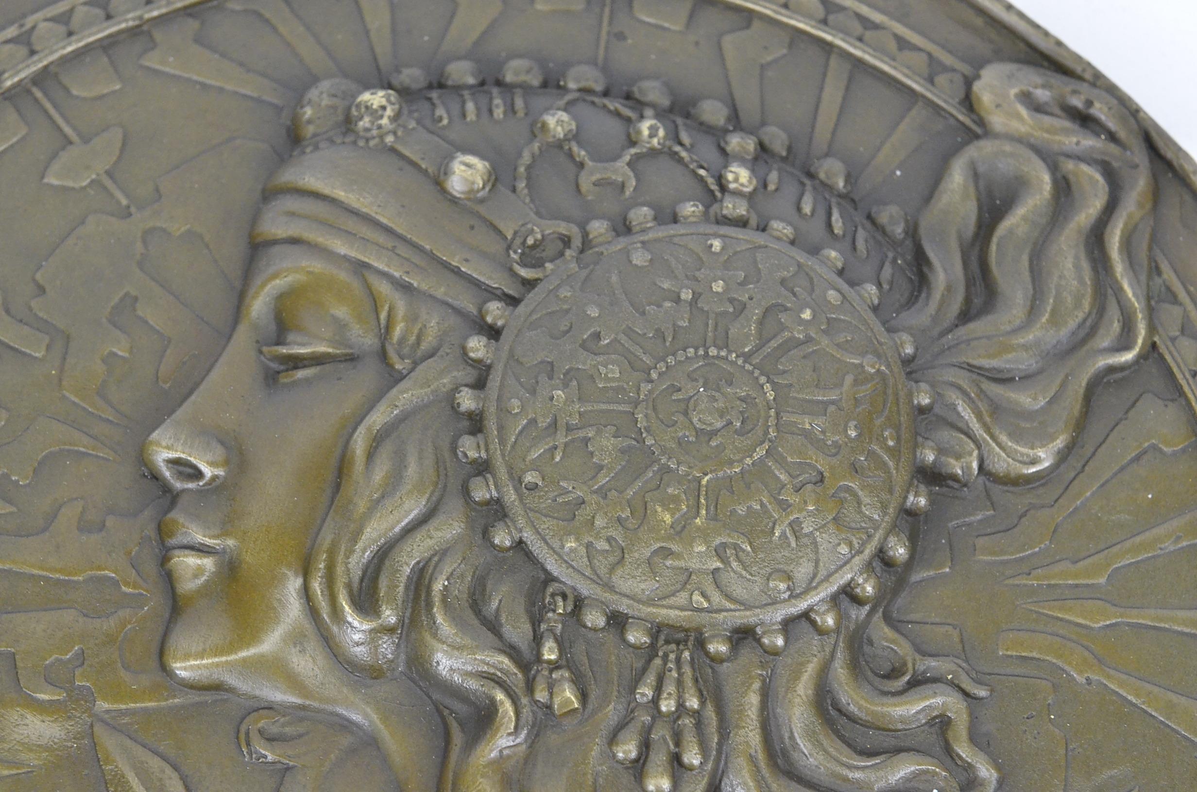 FINE RARE FRENCH Bas Relief Art Nouveau Bronze Sculpture Statue ...