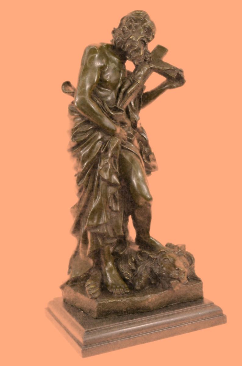 签署valli犹大破碎狮子头青铜宗教雕塑雕像雕像