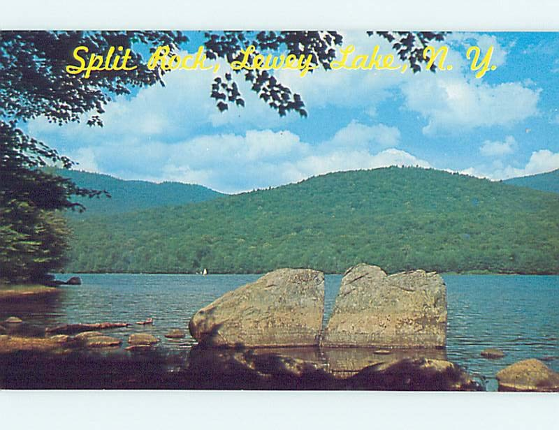 Pre-1980 WATER SCENE Lewey Lake - Sabael - Indian Lake New York NY hk2537