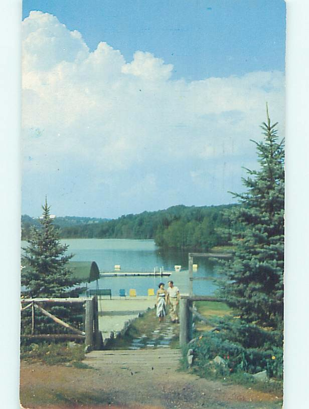 Pre-1980 WATER SCENE Grossinger Lake - Liberty New York NY hk2568