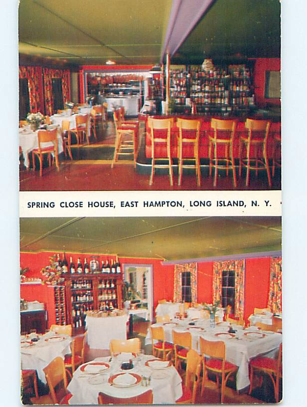 Pre-1980 RESTAURANT SCENE Long Island - East Hampton New York NY hk4791-12