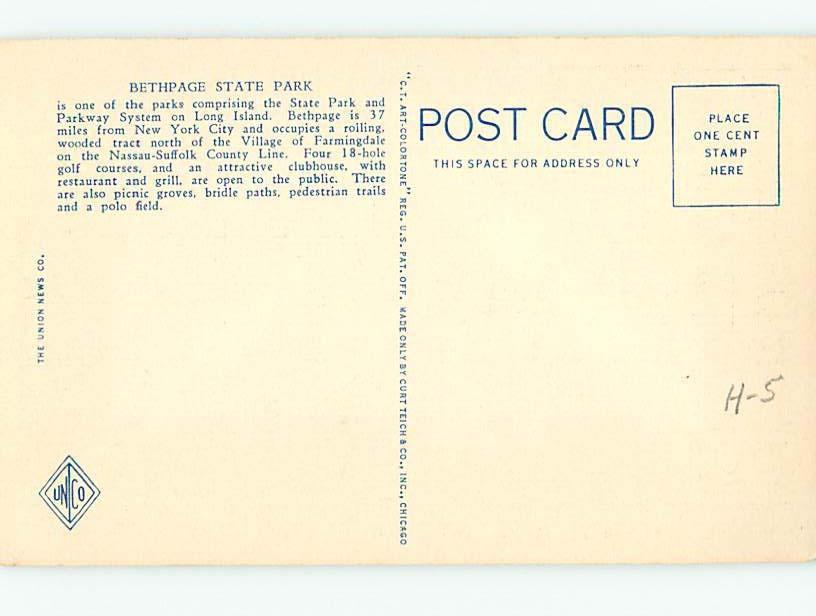 Unused Linen PARK SCENE Long Island - Farmingdale New York NY hk6363