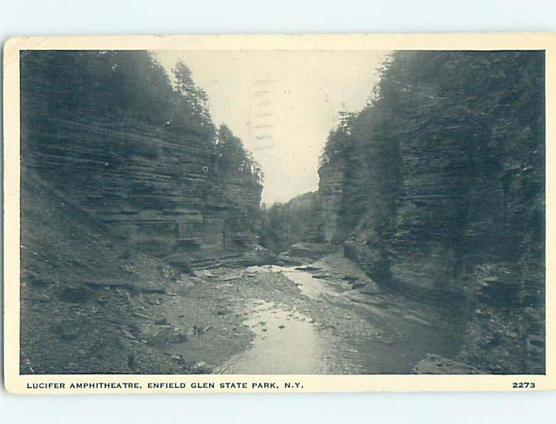 W-Border PARK SCENE Enfield Glen State Park - Ithica New York NY hk8630
