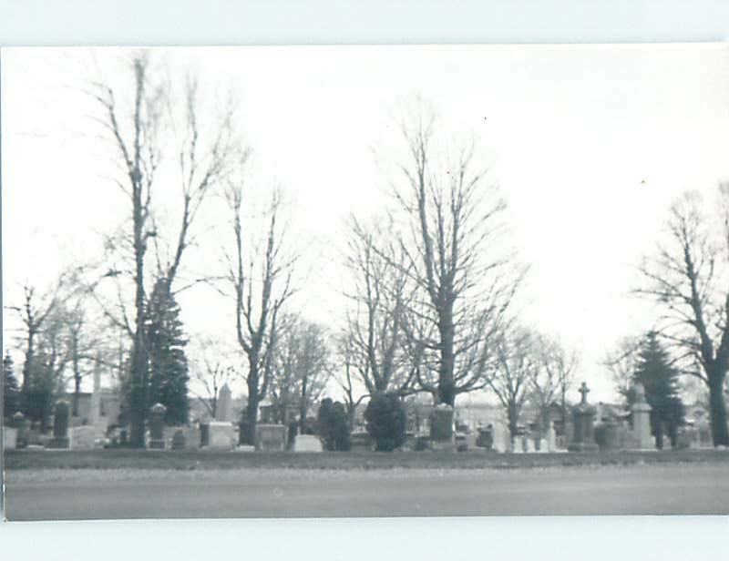 Old rppc GRAVESTONES AT PINE HILL CEMETERY Marked Buffalo New York NY HM4019