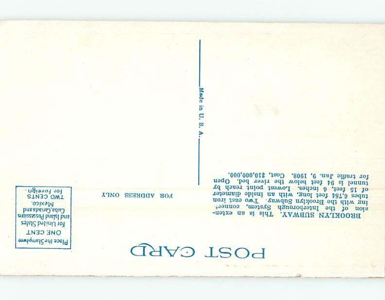Unused Linen BROOKLYN SUBWAY SYSTEM New York City NY HM9510