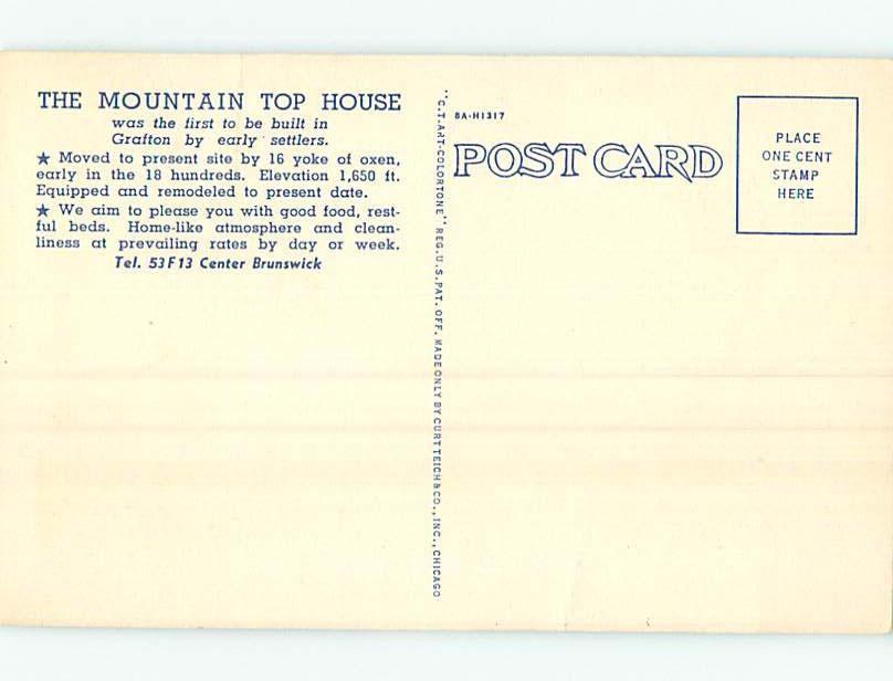 Linen MOONS MOUNTAINTOP HOUSE MOTEL Grafton New York NY HM9701