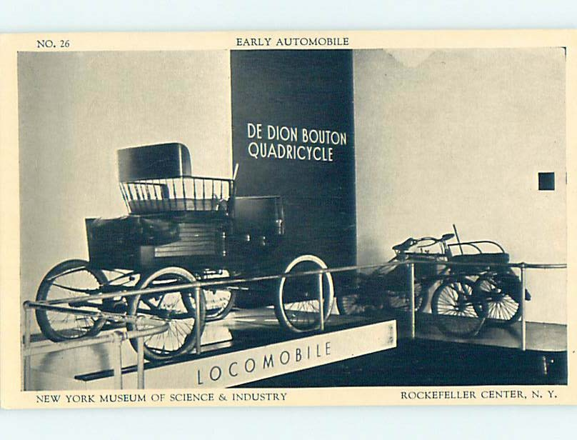 1930's DE DION BOUTON EARLY AUTOMOBILE - ROCKEFELLER CTR New York City NY hn2490