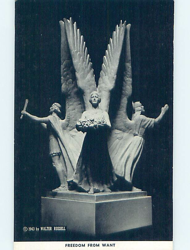 1943 Nyc Sculptor FREEDOM FROM WANT - FOUR FREEDOMS New York City NY hn3937-12