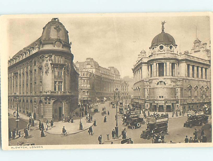 1920's OLD CARS IN FRONT OF THEATER Aldwych - London England Uk hn6348