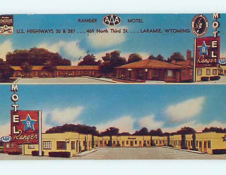 Pre-1980 RANGER MOTEL Laramie Wyoming WY M2292