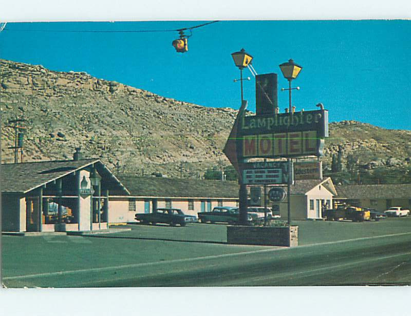 Pre-1980 LAMPLIGHTER MOTEL Rock Springs Wyoming WY M3173