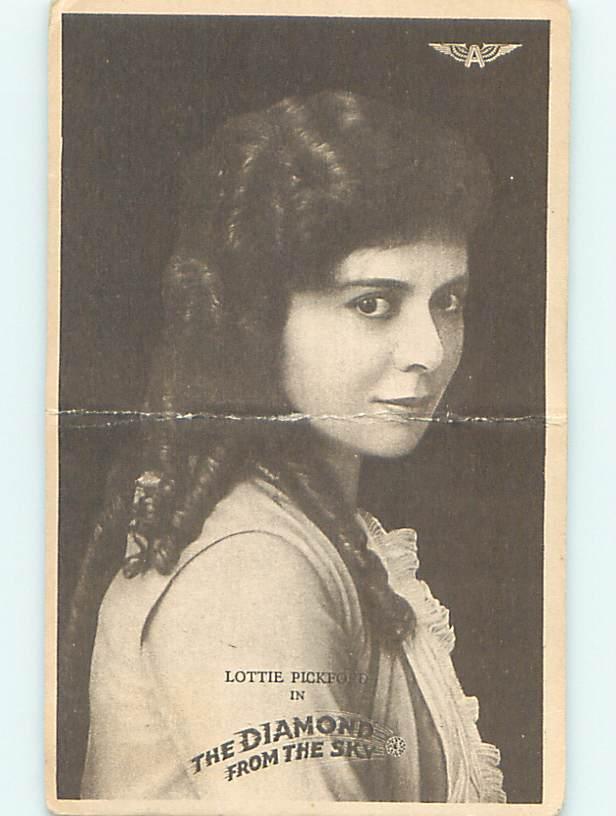 Bent 1915 postcard MARY PICKFORD SISTER - LOTTIE PICKFORD FILM PROMO o7317