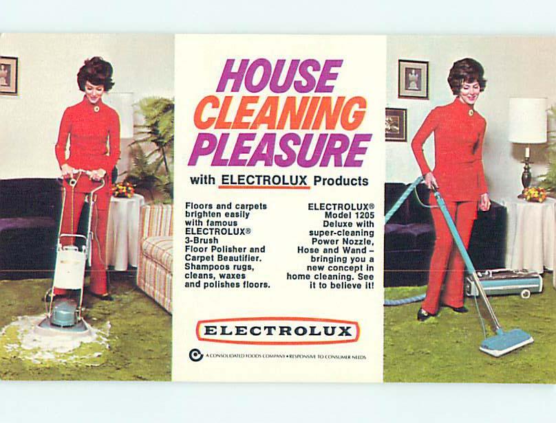 electrolux vacuum vintage. 1960\u0027s advertising postcard electrolux vacuum - vintage fashion look r5136 electrolux vacuum vintage