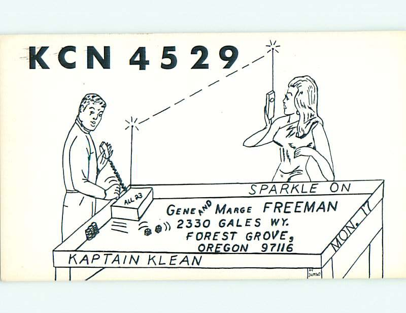 Risque Sexy Girl QSL Ham Radio Card Forest Grove Oregon or T0980 ...