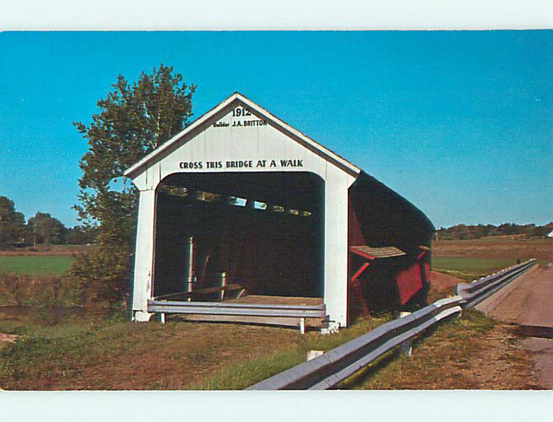 Unused-Pre-1980-COVERED-BRIDGE-Rosedale-Indiana-IN-t7815 thumbnail 1