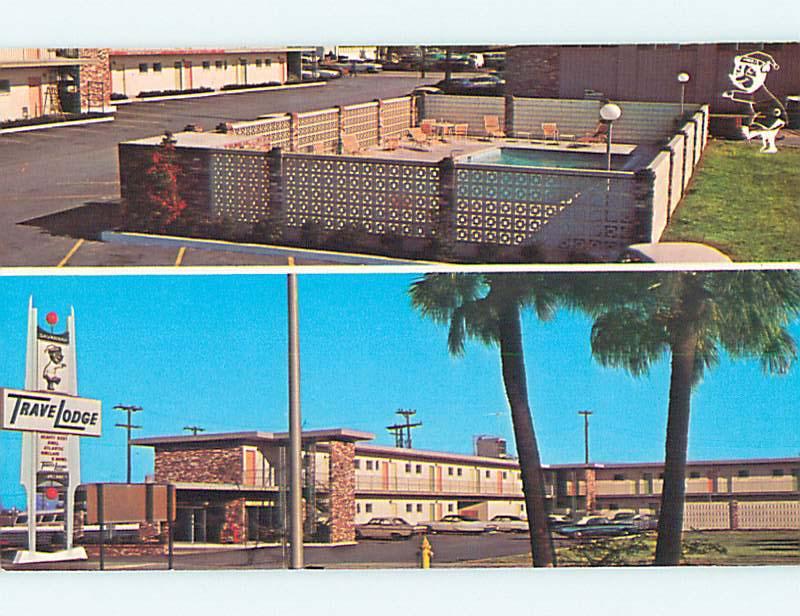 Unused-Pre-1980-OLD-CARS-amp-TRAVELODGE-MOTEL-amp-POOL-Savannah-Georgia-GA-u5955