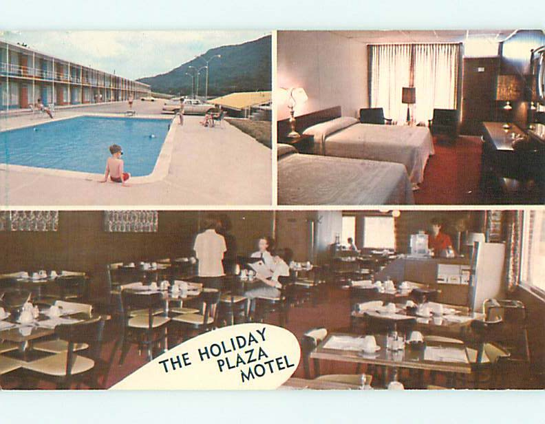 Unused-Pre-1980-OLD-CARS-amp-HOLIDAY-PLAZA-MOTEL-amp-POOL-Jellico-TN-u7526-14